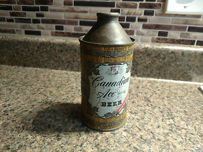 Canadian Ace Extra Pale Brand 12oz Cone Top Beer Can Vintage