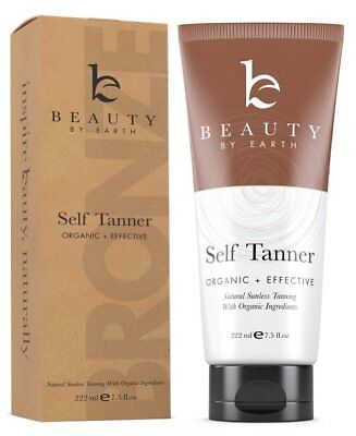 Beauty by Earth Natural Organic Sunless Self Tanner Full Size (222ml/7.5oz) NIB