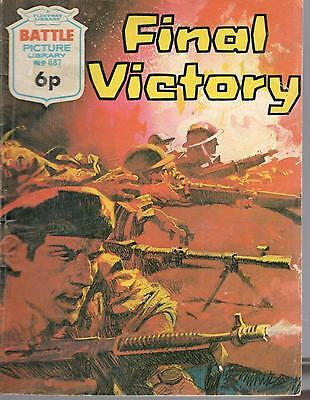 1972 No 687 33438 Battle Picture Library  FINAL VICTORY