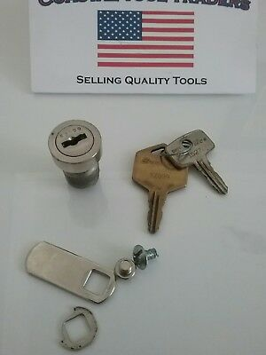 1 Snap-on toolbox lock with 2 keys-Snapon KZ099 #291A