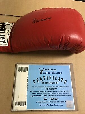 Autographed Muhammad Ali Boxing Glove OA Online Authentics Certified