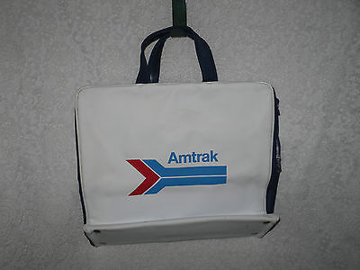 Amtrak Train Carry on Travel Bag Railroad Vintage