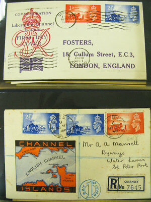 Channel Islands Stamps Early Cover Collection Lot of 100