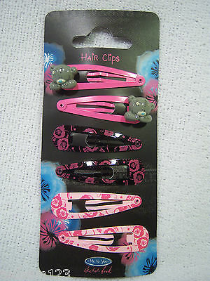 Me To You -   Tatty Ted  ' Click Clacks  - Hair Clips '   -   Brand New