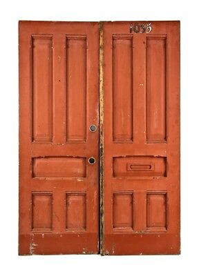 1880's Pine Wood Salvaged Chicago Cottage Entrance Doors