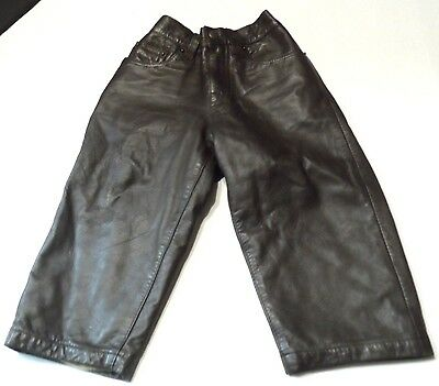 Leather Pants Toddler Genuine Lined Baby Gap XL 18-24 mo's Brown Unisex