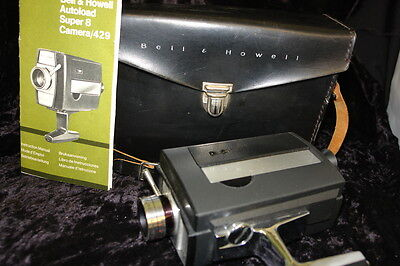 Bell & Howell Autoload Super 8 Camera Model 429 with Case & Booklet