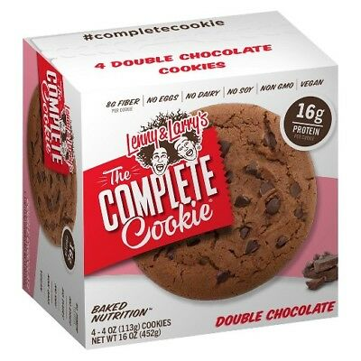 New Lenny Larrys The Complete Cookie Double Chocolate 4 Cookies 16 Oz Box