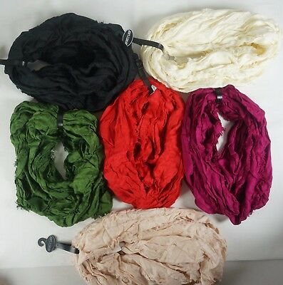 Solid Color Infinity Loop Circle Scarf Light Weight Pick Color Womens Fashion