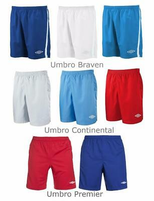 New Umbro Mens Polyester Sport Shorts S to 2XL  training  gym football