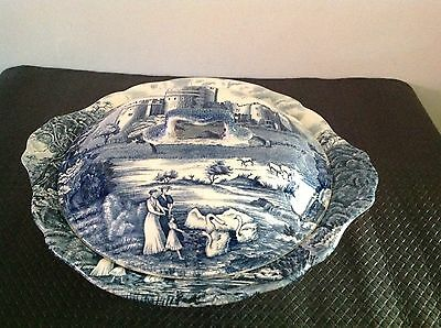 Castle Story Johnson Brothers England Large Lidded Serving Bowl