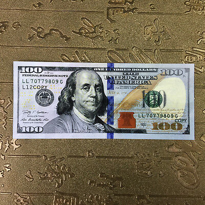 Novelty $100 * 100s copy bills fake money Small Size 5.11 x 2.16 in