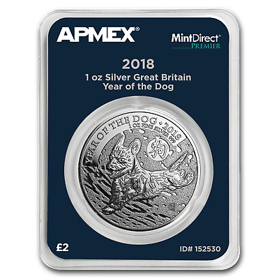 2018 GB 1 oz Silver Year of the Dog MintDirect® Single