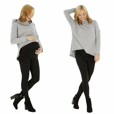 Maternity Pregnancy Cotton Thick Warm Winter Lined Leggings Over Bump Size 8-18