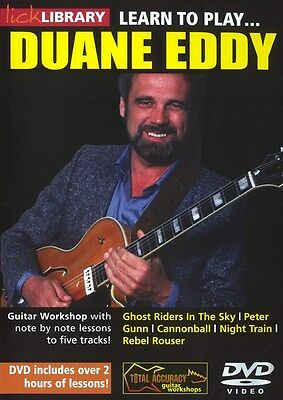 Lick Library Learn to PLAY DUANE EDDY Twang Guitar Lesson DVD with S. Trovato