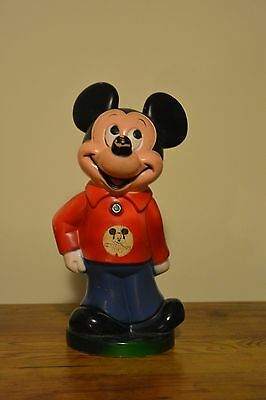 "Vintage Mickey Mouse 11"" Coin Bank with Stopper"