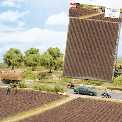 BUSCH HO SCENERY MAT - PLOUGHED FIELD - #7183 suit model train