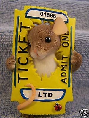 Charming Tails You're The Ticket 82/123 BNIB Numbered