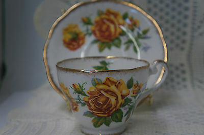 Vintage Romany Rose Tea Cup and Saucer Royal Standard
