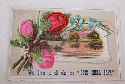 Antique Trade Card-Good Cheer Soap- Allen B Wrisley-Laundry