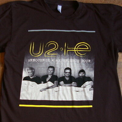 U2 Innocence and Experience Tour Large T-shirt Black Made in USA 2 Sided