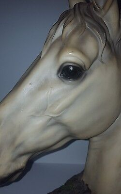 Horse Head Statue Ceramic AWESOME Display.NICE.see photos.Giant Chess Rook piece