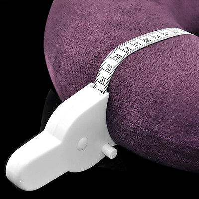 Body Tape Measure White Waist Weight Loss Aid Fat Retractable Fitness Health #