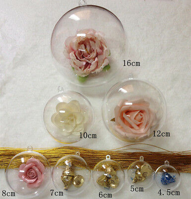 Clear Plastic Craft Ball Acrylic Transparent Sphere Bauble , christmas baubles