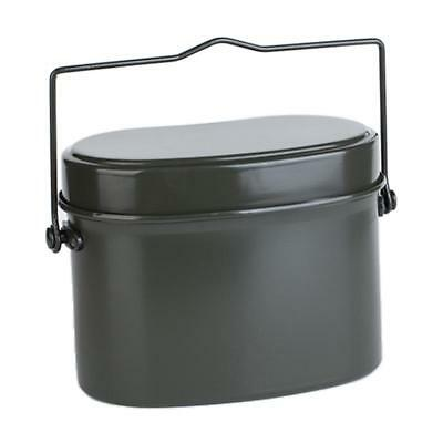 Aluminum Army Military Mess Kit Lunch Box Pot Kettle Canteen Food Container