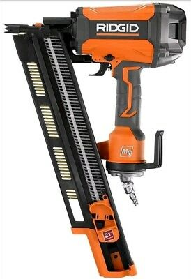 Ridgid Nail Gun 21 Degree 3-1/2 in. Round-Head Framing Nailer Durable Contractor