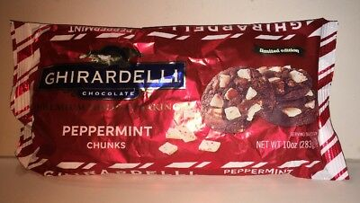 Ghirardelli Premium Holiday Baking Peppermint Chunks 10 Oz Bag Limited Edition