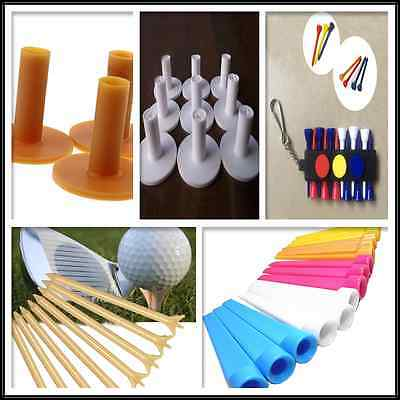 Pack Durable Rubber Golf TEE Holder for Golf Driving Range Tee Practice-5-Models