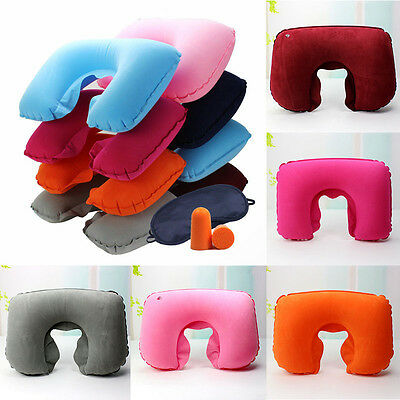 Car Flight Travel Soft Inflatable Neck Rest Cushion U Pillow Support.Comfortable