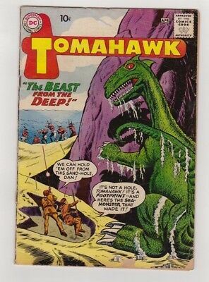 TOMAHAWK #67 March-April 1960 DC 2.5 G+ DINOSAUR COVER DICK DILLIN  Fred Ray