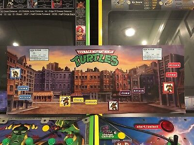 Teenage Mutant Ninja Turtles Arcade Control Panel Overlay CPO Decal TMNT Konami