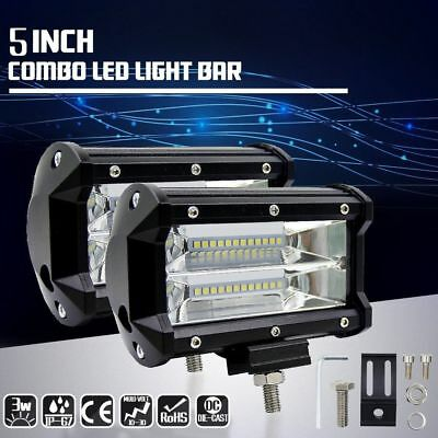 5'' Inch 72W 10800LM LED Work Light Bar Flood Driving Lamp ATV OFFROAD SUV Truck
