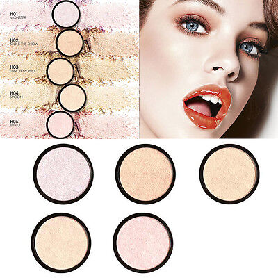 5 Colors FOCALLURE Face Shimmer Brightening Pressed Highlight Powder Cosmetic ##