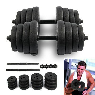 2X Weights Dumbbell Set Gym Workout Fitness Biceps Exercise Training 30KG New