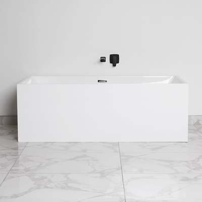 Square Freestanding Back to Wall & Corner Multi Fit Bath Tub - 1500 1600 1700 mm