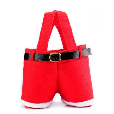 Cute Christmas CANDY GIFT TOYS BAG Red Santa Pants-EIf Shoes Treat Bags/for/Xmas