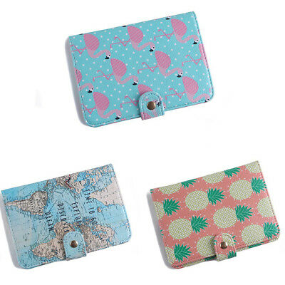 Passport Holder Wallet Cover Luggage Tag Suitcase Label Address ID Holiday #