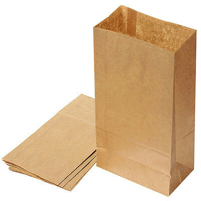 10pcs Small Kraft Paper Gift Candy Bag Vintage Wedding Treat Gift Paper Bag Set#