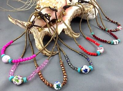 Anklet Gypsy Bells Ring 7 Colors Available Bronze Gold Surf Beach Jewelry BoHo