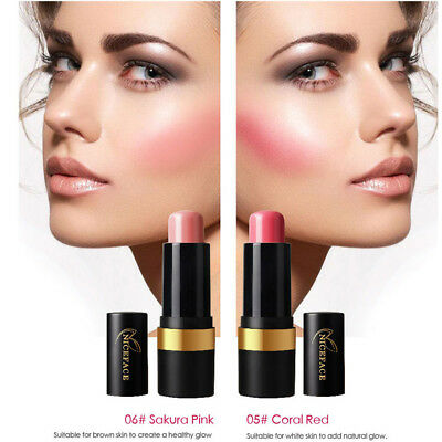 NICEFACE 2 Colors Blush Stick Long Lasting Waterproof Blush Cosmetic Makeup Pro.