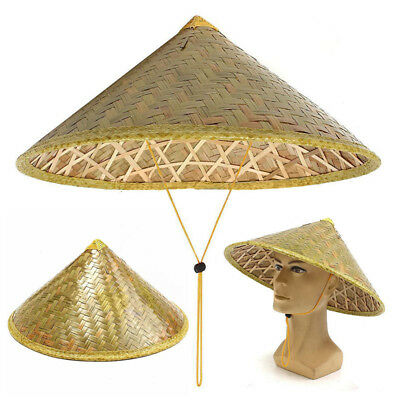 Chinese Oriental Vietnamese Coolie Straw Bamboo Sun Hat Farmer Fishing Hat Pro.