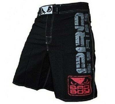 MMA Black Fight Shorts Grappling Short Kick Boxing Cage Fighting Trunks