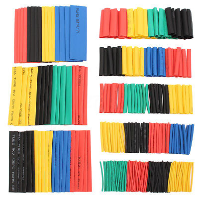 328 X Assortment 2:1 Heat Shrink Tubing Sleeving Wrap Wire Kit φ1-φ14mm 8 Sizes