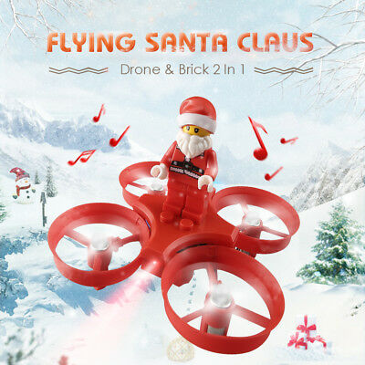 RC Quadcopter Flying Drone Xmas Santa Claus Aircraft Toys Kids Christmas Gift
