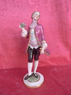 Beautiful, Antique Porcelain Figurine___Cavalier with Flower__20cm__Marked