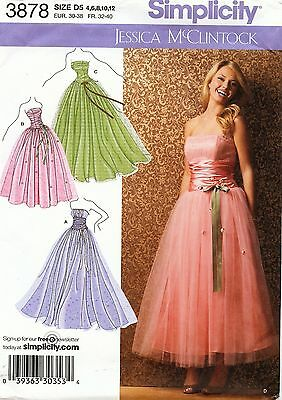Simplicity Pattern 3878 Evening Gown Sized to Fit My Size Barbie